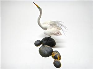 MINIATURE GREAT EGRET