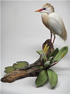 LIFE-SIZE CATTLE EGRET